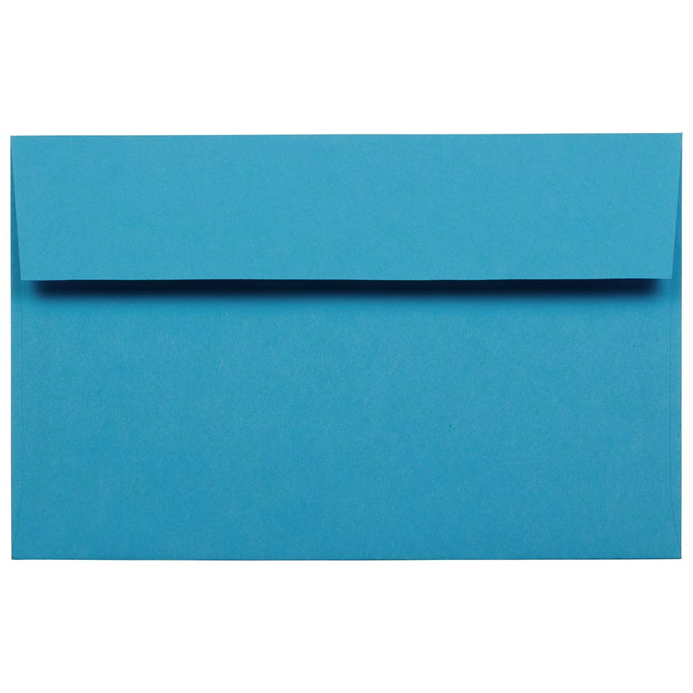 JAM PAPER A10 Colored Invitation Envelopes - 6 x 9 1/2 - Blue Recycled - 25/Pack