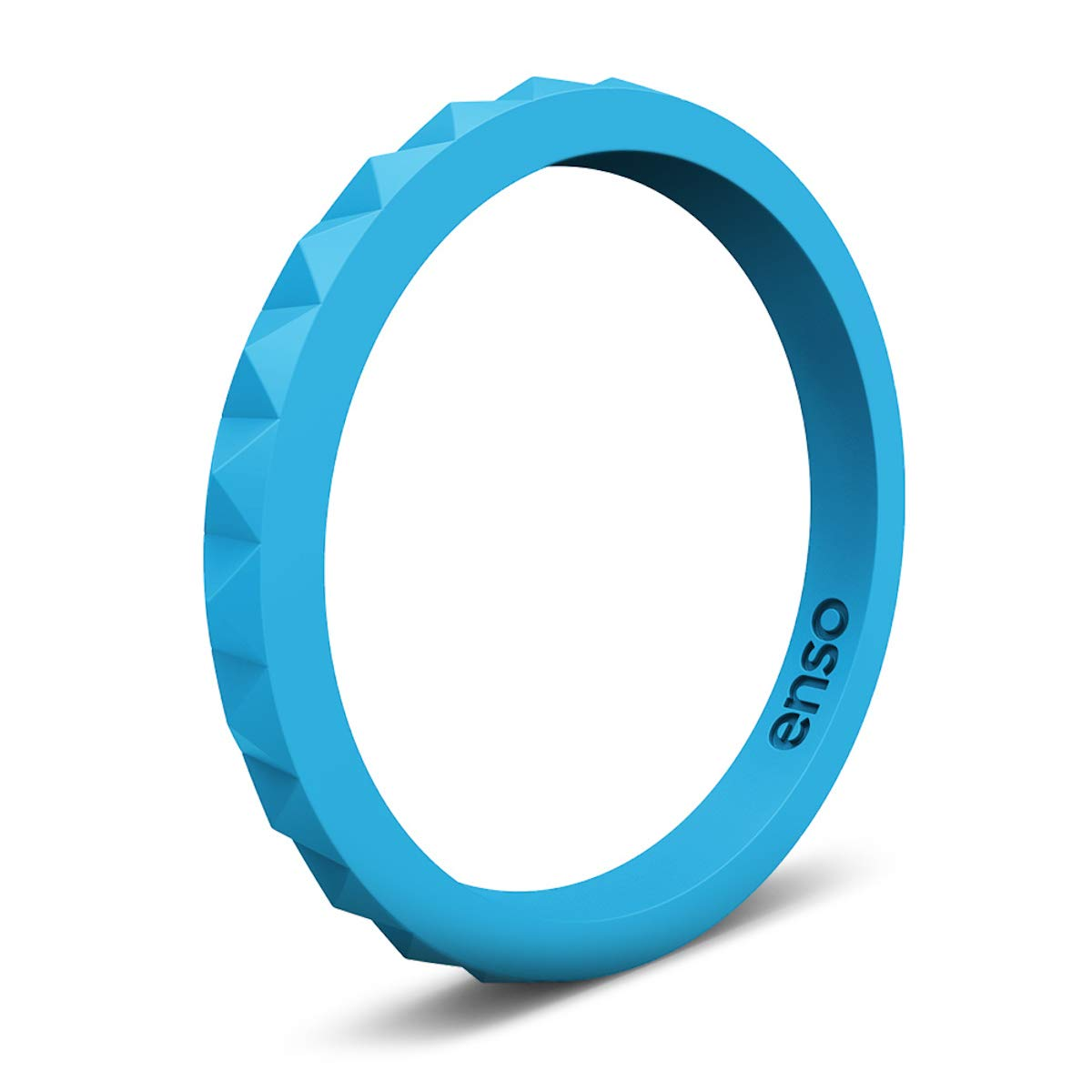Enso Rings Pyramid Stackable Silicone Rings Premium Fashion Forward Stackable Silicone Ring - Don't Be Fooled by Competitors - Multiple Matching Colors - Lifetime Quality Promise
