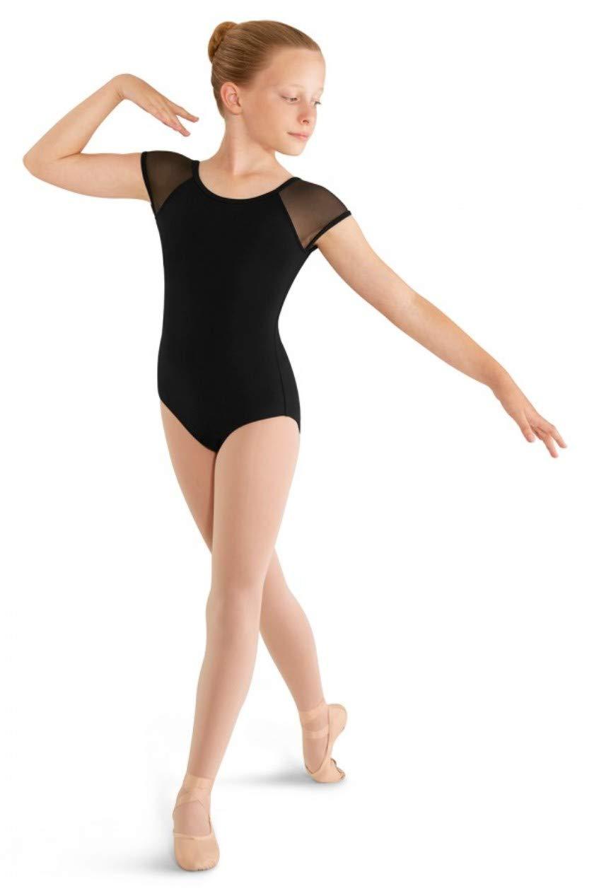Mirella Girls Soft Mesh Cap Sleeve Dance Leotard