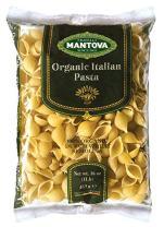 Mantova Italian Organic Pasta Shells - 100% Durum Semolina Organic Conchiglie - 16 Oz Pack Of 12) - Product Of Italy