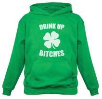 Drink Up Bitches Hoodie Irish St Patrick's Day Clover Women's Pullover