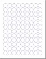 """Laser/Ink Jet White Labels (3/4"""" Round - 108 Per Page 