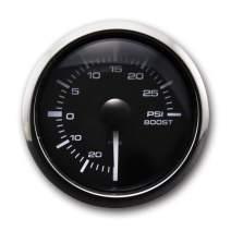 MOTOR METER RACING White Amber 30 PSI Boost/Vacuum Gauge Kit Includes Electronic Pressure Sensor Waterproof Pin-Style install