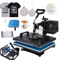 Beautysail Heat Press, Transfer The Press 12X15 5IN1 for T-Shirts, HAT/Cap, MUP, Swinger/Swing Away Heat Press Machine, Esay to Heat