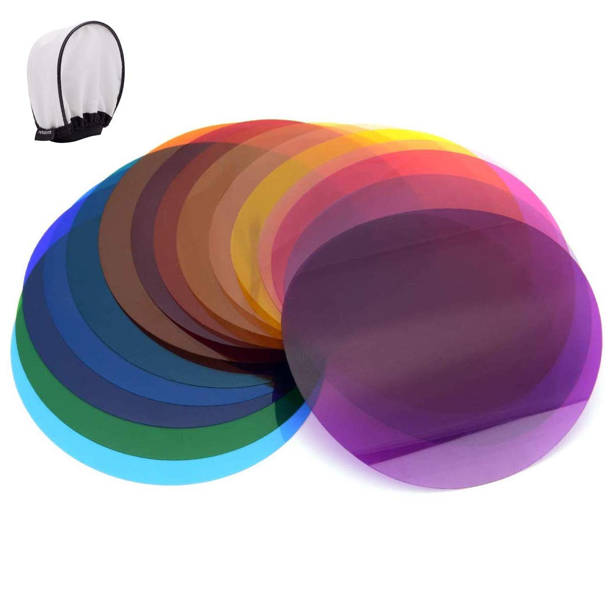 Godox V-11C Color Filters for Create Color Effects, Used with AK-R16 Diffuser Plate or AK-R1 kit,Compatible with Round Head Flash Godox V1-C,V1-N,V1-S,V1-O,V1-P,AD200 AD200PRO with H200R Ring Flash He