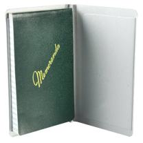 Saunders 00882 Padfolio with Writing Pad - Pocket Size Notepad Holder in Silver, 3.5 x 5.5 in. Recycled Aluminum Padfolio