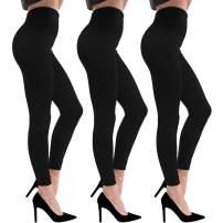 Diu Life Fleece Lined Leggings for Women - New Soft Warm Leggings High Waist Elastic Slimming Yoga Pants