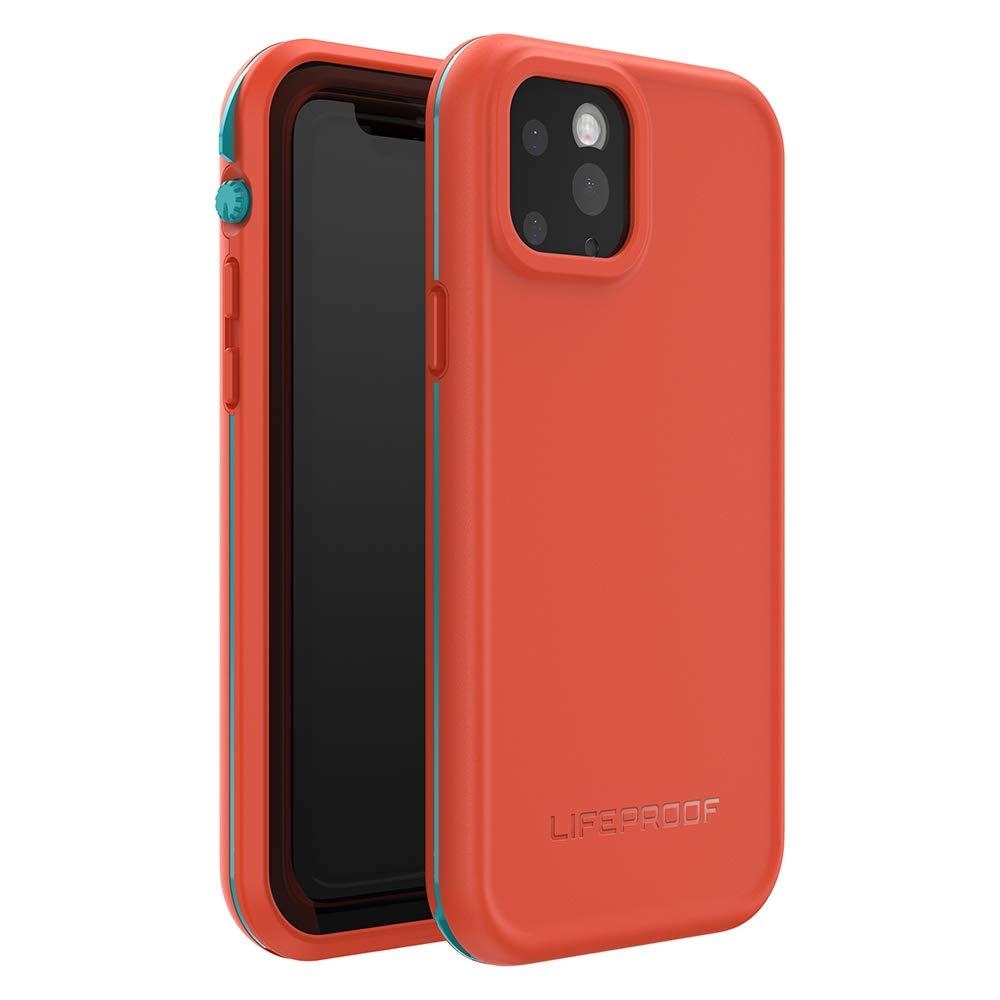 LifeProof FRĒ SERIES Waterproof Case for iPhone 11 Pro - FIRE SKY (Aqua/Red Orange)