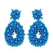 Clearance Dangle Hoop Earrings for Women - Statement Handmade Bohemian Beaded Fashion Drop Earrings with Gift Box