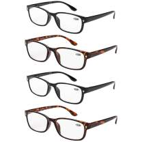 Reading Glasses 4 Pack for Men & Women Readers with Spring Hinge for reading