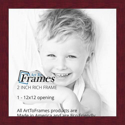 ArtToFrames 12x12 inch Rich Mahogany Frame Picture Frame, WOMFRBW74039-12x12