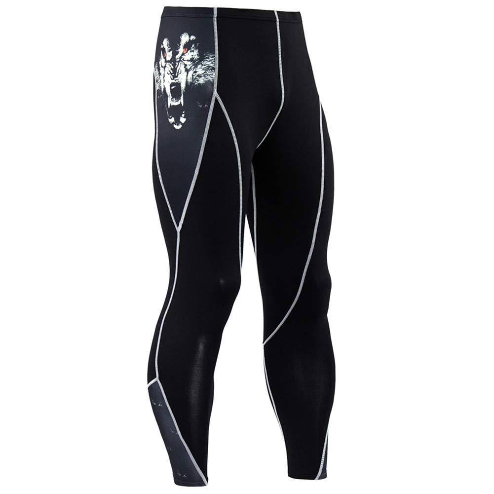 MASS21 Men's Tights Capri Compression Pants Baselayer Cool Dry Sports Tights Leggings