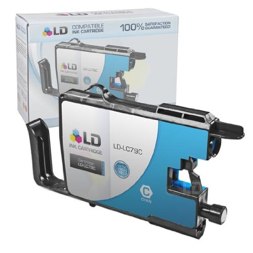 LD Compatible Ink Cartridge Replacement for Brother LC79C Extra High Yield (Cyan)