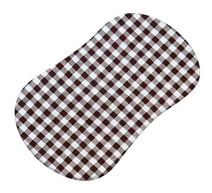 SheetWorld Fitted Bassinet Sheet (Fits Halo Bassinet Swivel Sleeper) - Brown Gingham Check - Made In USA