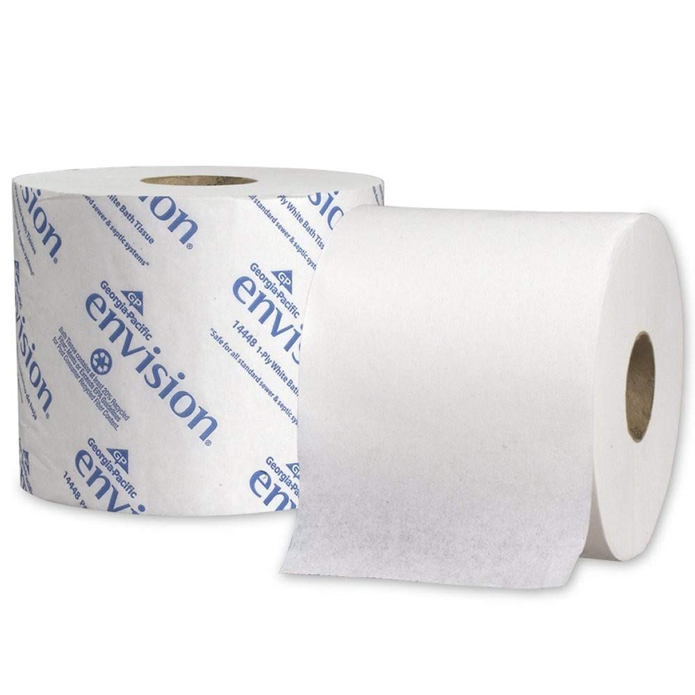 Envision 2-Ply Toilet Paper by GP PRO (Georgia-Pacific), 19448/01, 1,000 Sheets Per Roll, 48 Rolls Per Case