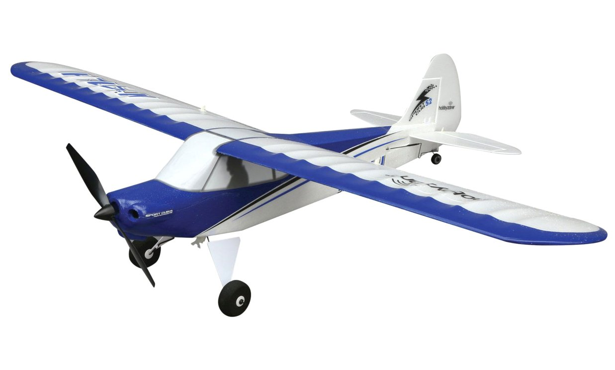 HobbyZone Sport Cub S RC Airplane RTF with SAFE Technology (Includes 6-CH 2.4GHz Transmitter   150mAh 3.7V LiPo Battery   USB Charger), HBZ4400,Blue