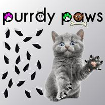 Purrdy Paws Soft Nail Caps for Cat Claws Two-Toned Black/White