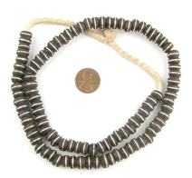 Inlaid Ebony Prayer Beads - Full Strand of African Trade Beads - The Bead Chest (9mm)