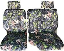 RealSeatCovers 3 Layer Front 60/40 Split Bench A57 Triple Stitched Thick Custom Made Seat Cover for 1993 Toyota Pickup Exact Fit A57 (Camo)
