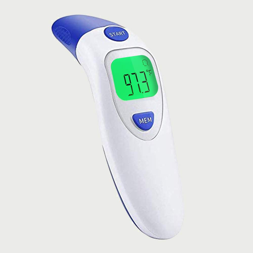 Forehead and Ear Thermometer, Medical Digital Infrared Temporal Thermometer for Fever, Instant Accurate Reading for Baby Kids and Adults, with Fever Alarm Forehead Thermometer