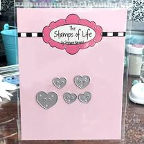 Small Heart Die for Card-Making and Scrapbooking Supplies and DIY Crafts by The Stamps of Life