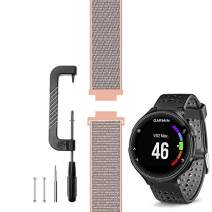 C2D JOY Compatible with Garmin Forerunner 235 Band Replacement (Pins and Pin Removal Tool) Sport Mesh Strap Also for FR220/230/620/630/735XT Accessories Nylon Weave Watchband - 12#, L/6.0-9.2 in.