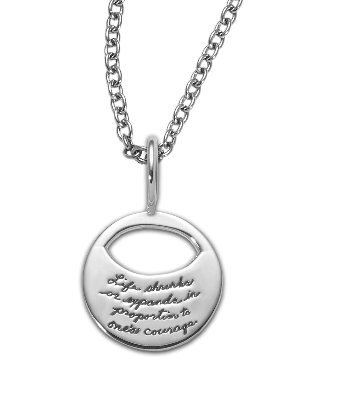 BB Becker A Courageous Life Sterling Silver Necklace - Graduation Gift