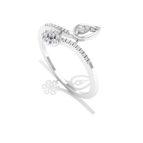 Petal Flower Engagement Ring, IGI Certified Diamond Bridal Wedding Ring, IJ-SI Color Clarity Diamond Vintage Ring, Mothers Statement Ring