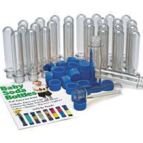 Steve Spangler Science  Baby Soda Bottles with Caps, Test Tubes for Kids, Set of 15