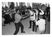 """iCanvasART The Beatles in Ring with Muhammad Ali Canvas Print, 40"""" x 26"""""""