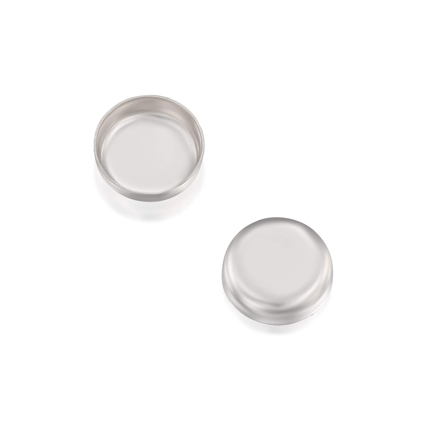 Stera Jewelry 12 Pcs Round Setting 925 Sterling Silver 6 mm Bezel Cup Findings for Rings Pendants Charms Earrings