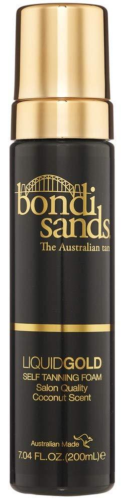 Bondi Sands Liquid Gold Self Tanning Foam   Lightweight + Quick Dry Foam Enriched with Argan Oil, Provides a Hydrated Streak-Free Tan   7.04 Oz/200 mL