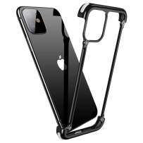 OATSBASF Aluminum Bumper Case Compatible with iPhone 11 Pro, Utral-Thin Corner Corver Bumpers Case for iPhone 11 Pro 5.8-inch (11 Pro Black)