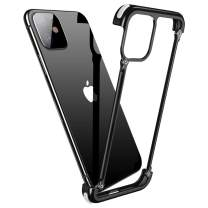 OATSBASF Aluminum Bumper Case Compatible with iPhone 11, Utral-Thin Corner Corver Bumpers Case for iPhone 11 6.1-inch (11 Black)