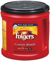 Folgers Coffee Ground Classic Roast, 33.9 Ounce (Pack of 2)