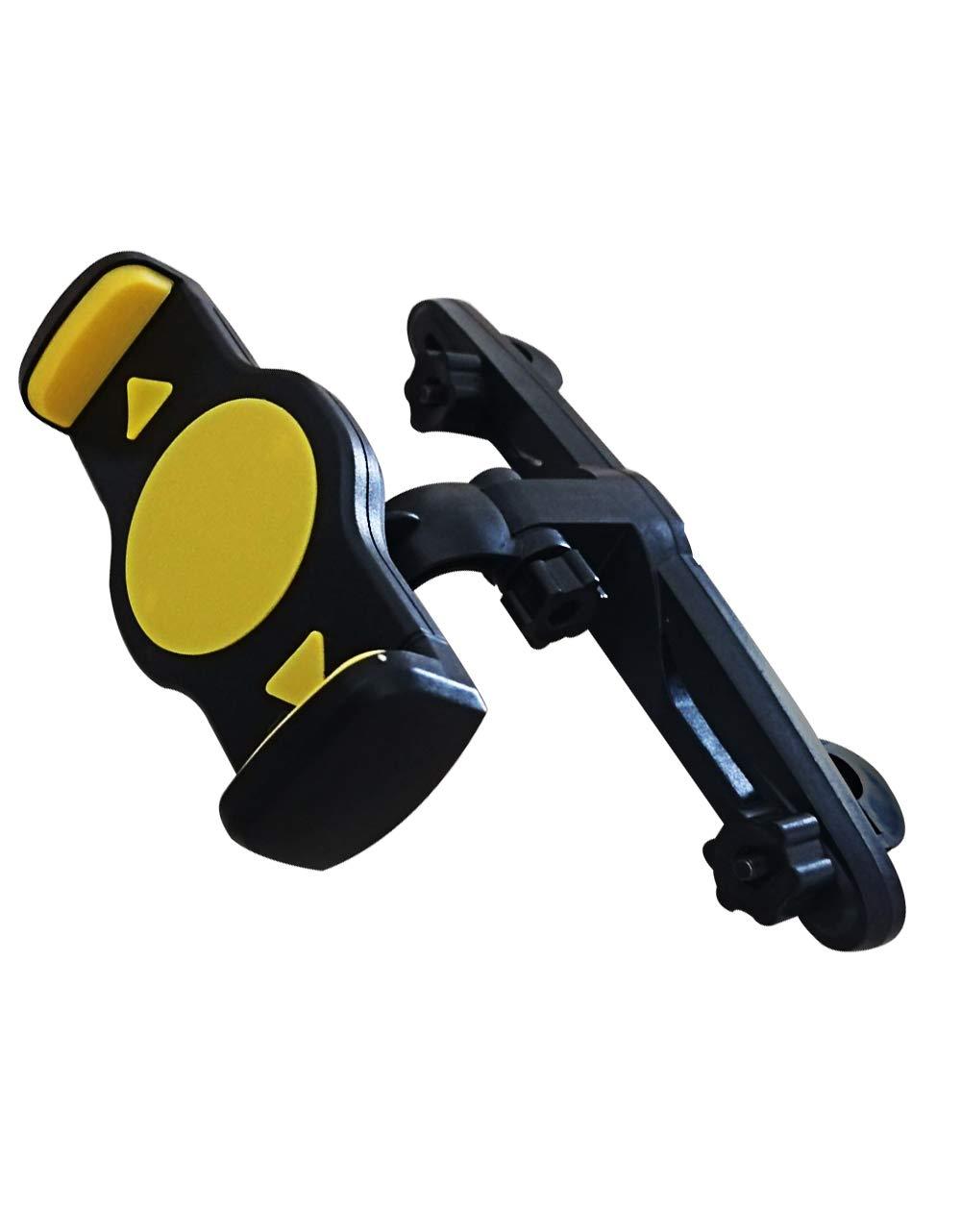 Manords Car Headrest Mount, Tablet Headrest Holder Flexible Back Seat Bracket with Adjustable Holding Clamp for 4.2-7.4 Inch Tablets