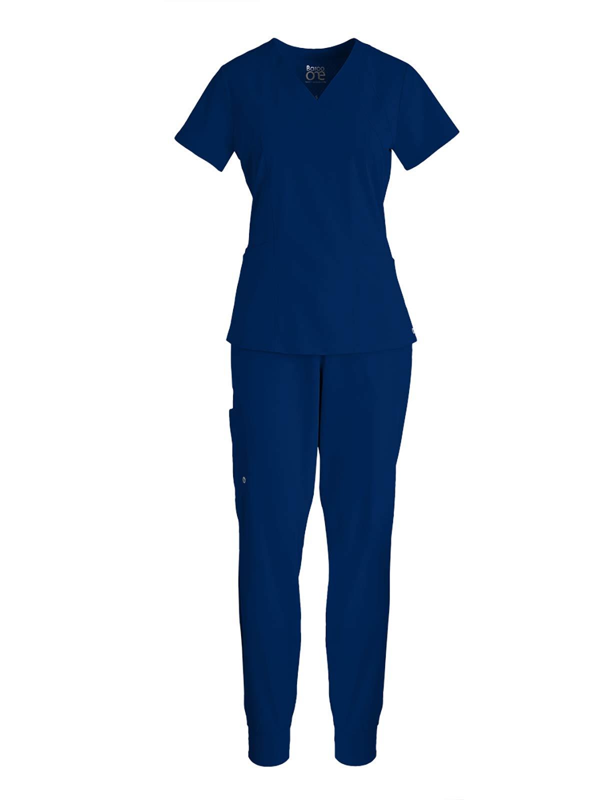 BARCO One Bundle – V-Neck Top + Boost Jogger Pant Medical Scrub Set for Women