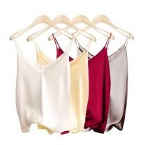 Van Royal Womens Camisole Tops Tees Tank Ladies Cami Tops Soft Satin Sexy V Neck Crop Top Elegant