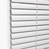 Taiyuhomes Aluminum Horizontal Window Mini Blinds Blackout Roll Up Shades 1 Inch Slats with Easy Inside and Outside Mount,23 1/2x64 Inch,Grey