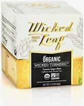 Wicked Leaf Organic Tea, Wicked Turmeric, 12 Tea Sachets
