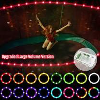 【Upgraded Large Volume Version】 LED Trampoline Lights,Remote Control Trampoline Rim LED Light for Trampoline, C Battery Box, 16 Color Change, Waterproof, Bright to Play at Night Outdoors