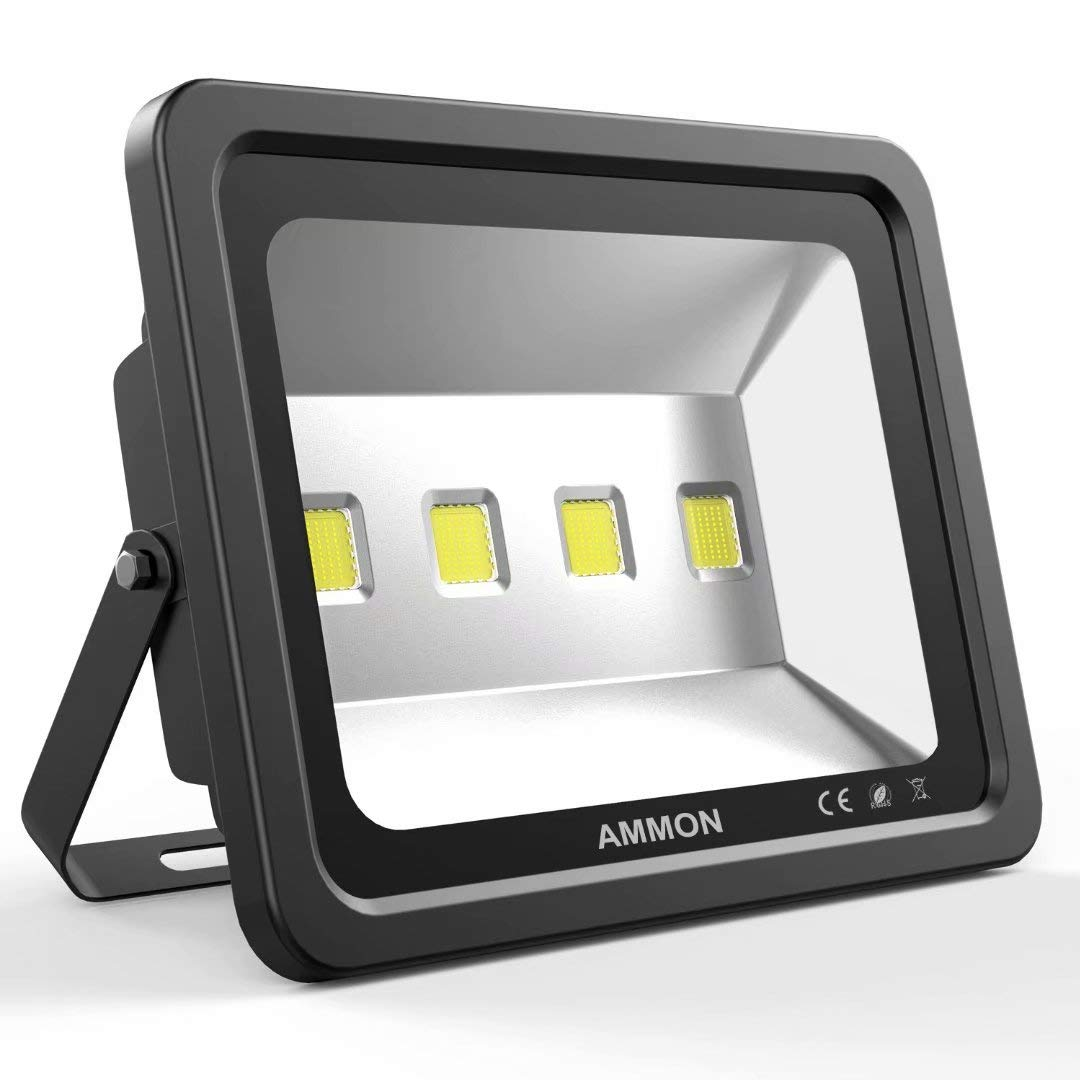 AMMON 200W LED Outdoor Flood Lights - 20000lm Super Bright Outside Floodlights, IP65 Waterproof Exterior Security Lights, 6000K Daylight White Lighting for Playground Yard Stadium Lawn Ball Park