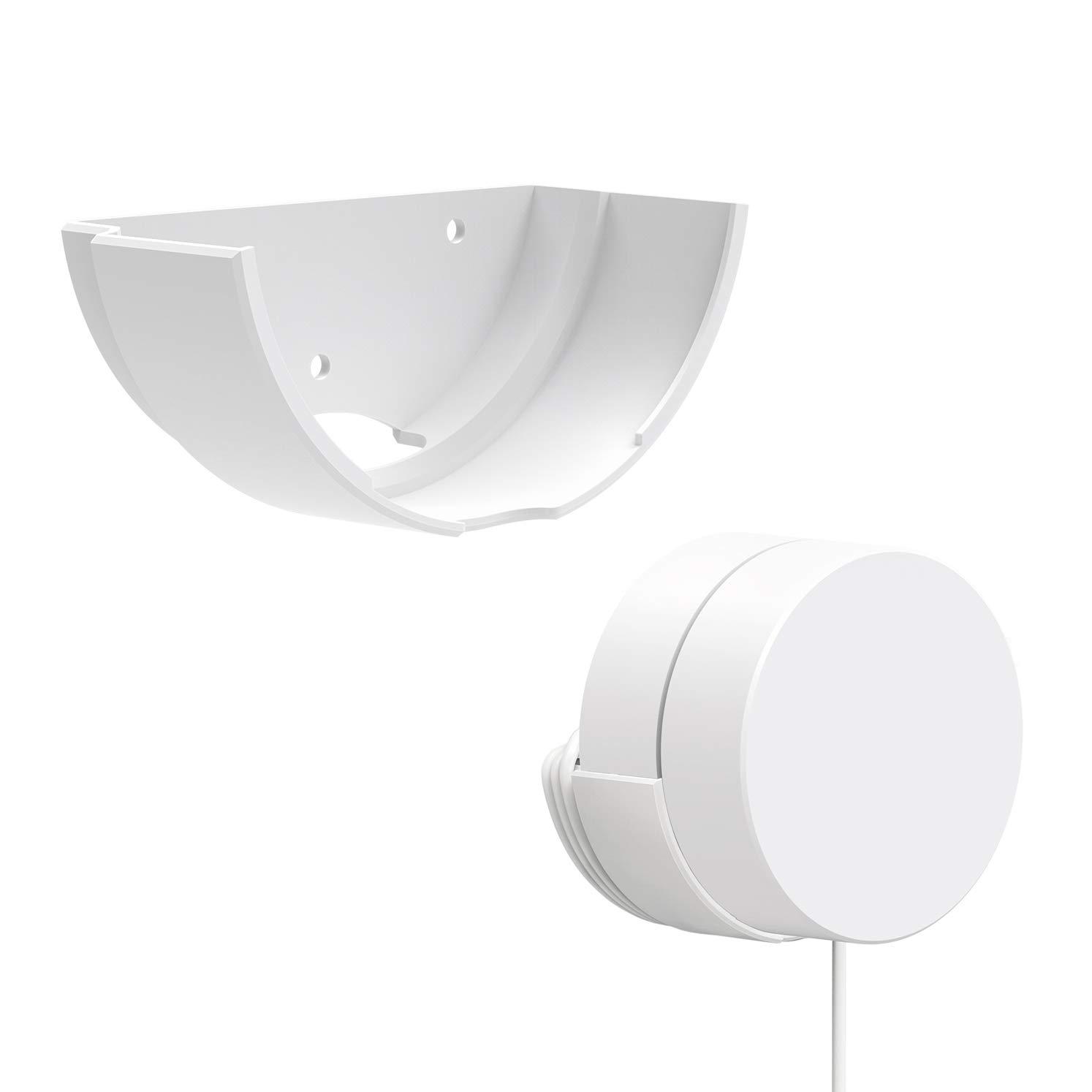 Mrount Google WiFi Wall Mount Bracket,Fits Snugly to Google WiFi,Best Design for Winding Power Cord,1 Pack