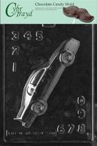 Cybrtrayd S087 Sports Chocolate Candy Mold, Stock Car for Specialty Box