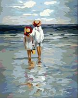 YXQSED [Framless] DIY Oil Painting Paint by Number Kit New-See to Sea 12x16 Inch