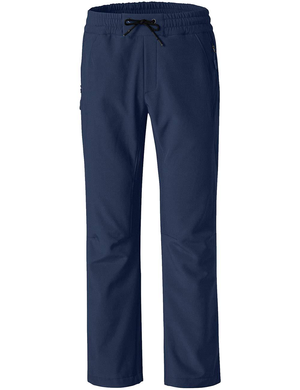 Wantdo Women's Softshell Insulated Pants Ski Fleece Lined Windproof Overalls