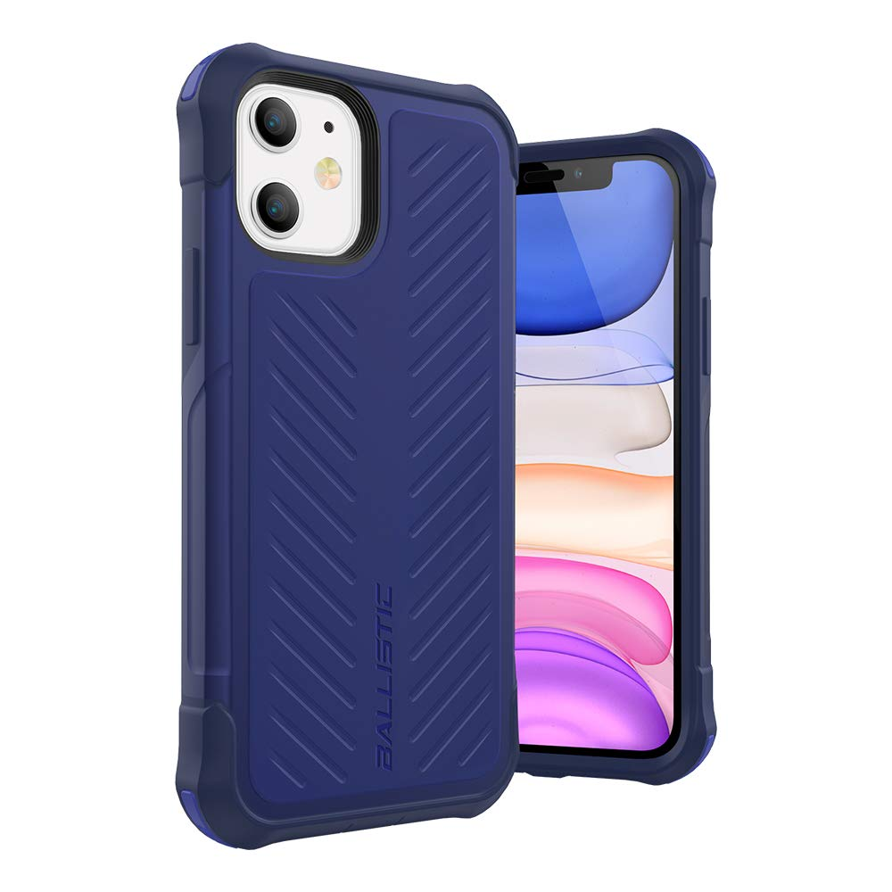 Ballistic iPhone 11 Case, Military Grade Drop Tested Rugged Protective Case for iPhone 11 6.1 [Tough Jacket Series] Blue