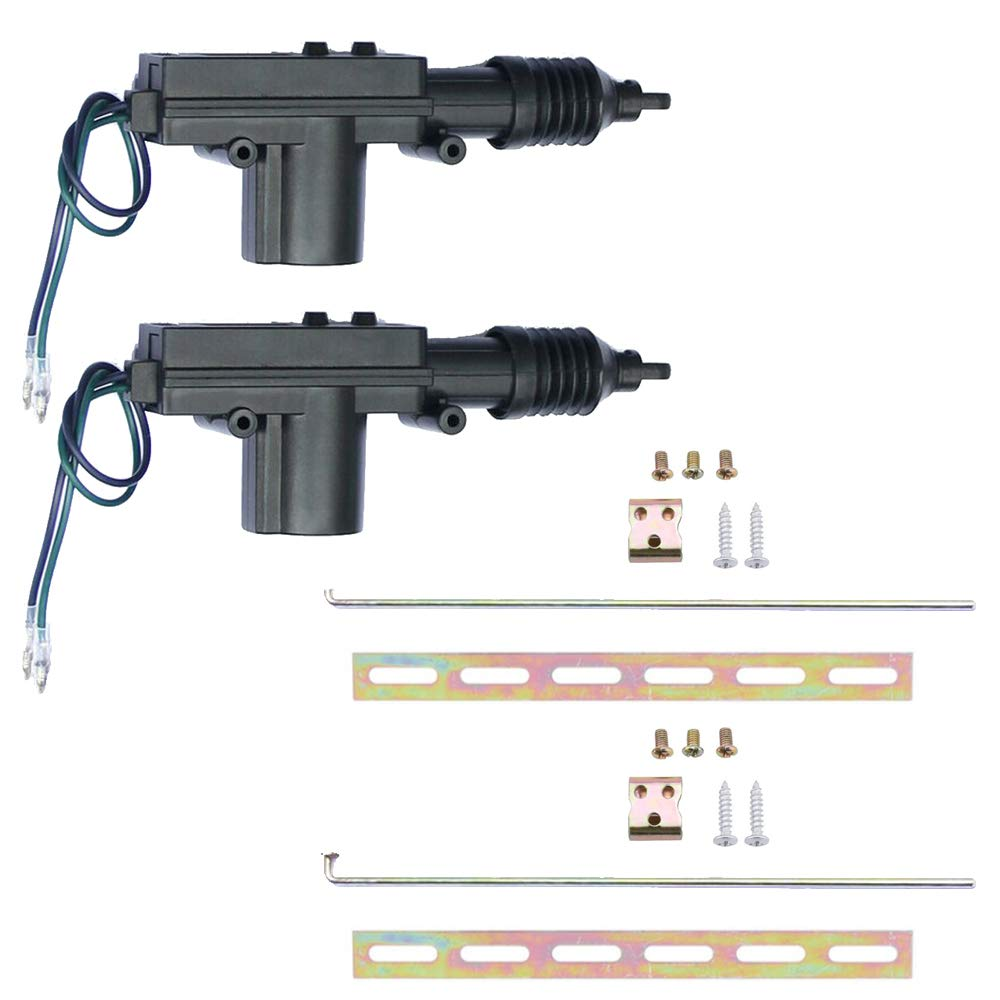 ESUPPORT Universal Car Heavy Duty High Power Door Lock Actuator 2 Wire 12V Pack of 2