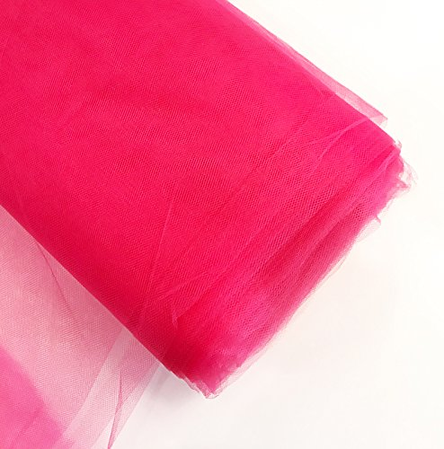 Craft and Party 54'' Tulle (Bolt 40 Yard) Fabric, Fuchsia