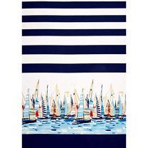 Michael Miller 0427913 Regatta Single Border Marine Fabric by the Yard